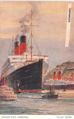 shp011017 - White Star Line Cunard Ship Post Card, Old Vintage Antique Postcard