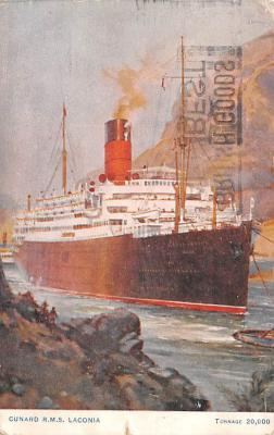 shp011019 - White Star Line Cunard Ship Post Card, Old Vintage Antique Postcard
