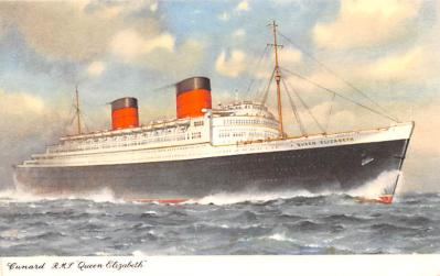 shp011025 - White Star Line Cunard Ship Post Card, Old Vintage Antique Postcard