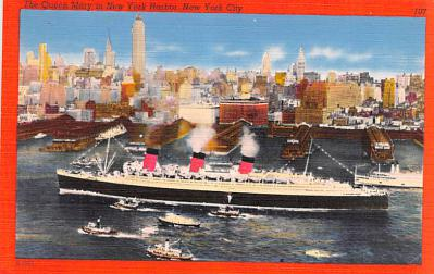 shp011033 - White Star Line Cunard Ship Post Card, Old Vintage Antique Postcard