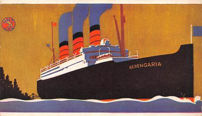 shp011041 - White Star Line Cunard Ship Post Card, Old Vintage Antique Postcard
