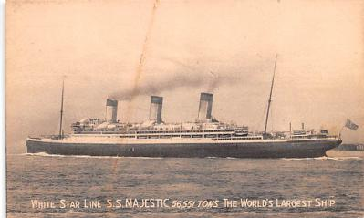 shp011043 - White Star Line Cunard Ship Post Card, Old Vintage Antique Postcard