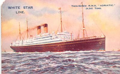 shp011047 - White Star Line Cunard Ship Post Card, Old Vintage Antique Postcard