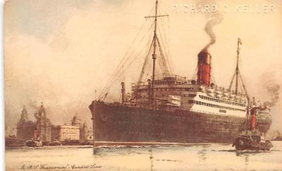 shp011049 - White Star Line Cunard Ship Post Card, Old Vintage Antique Postcard