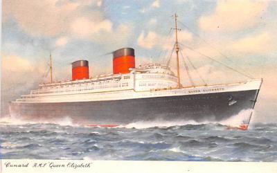 shp011053 - White Star Line Cunard Ship Post Card, Old Vintage Antique Postcard