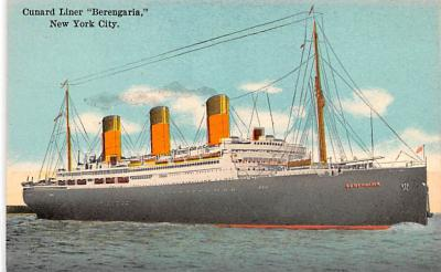 shp011057 - White Star Line Cunard Ship Post Card, Old Vintage Antique Postcard