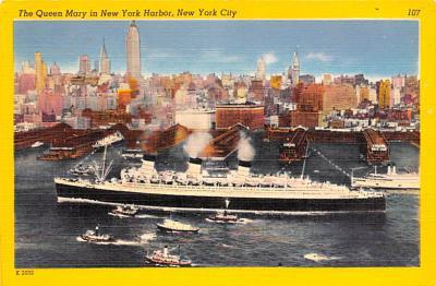 shp011059 - White Star Line Cunard Ship Post Card, Old Vintage Antique Postcard