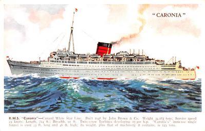 shp011061 - White Star Line Cunard Ship Post Card, Old Vintage Antique Postcard
