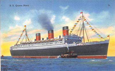 shp011065 - White Star Line Cunard Ship Post Card, Old Vintage Antique Postcard