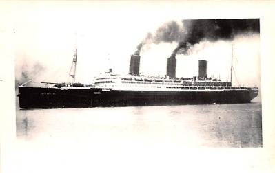 shp011067 - White Star Line Cunard Ship Post Card, Old Vintage Antique Postcard