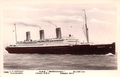 shp011073 - White Star Line Cunard Ship Post Card, Old Vintage Antique Postcard