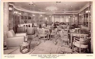 shp011075 - White Star Line Cunard Ship Post Card, Old Vintage Antique Postcard