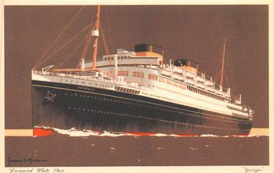 shp011079 - White Star Line Cunard Ship Post Card, Old Vintage Antique Postcard