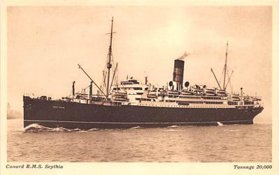 shp011081 - White Star Line Cunard Ship Post Card, Old Vintage Antique Postcard