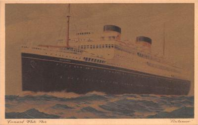 shp011087 - White Star Line Cunard Ship Post Card, Old Vintage Antique Postcard