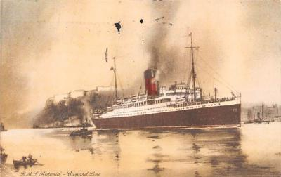 shp011089 - White Star Line Cunard Ship Post Card, Old Vintage Antique Postcard
