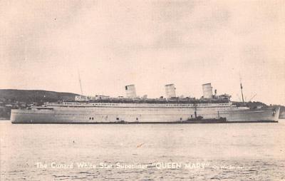 shp011091 - White Star Line Cunard Ship Post Card, Old Vintage Antique Postcard