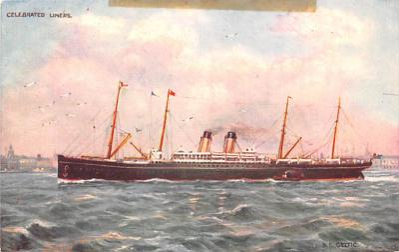 shp011093 - White Star Line Cunard Ship Post Card, Old Vintage Antique Postcard