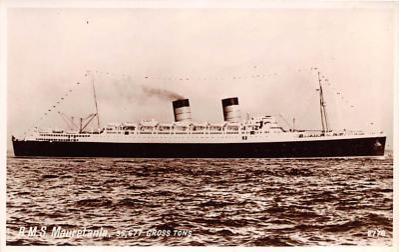 shp011095 - White Star Line Cunard Ship Post Card, Old Vintage Antique Postcard