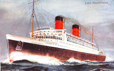 shp011097 - White Star Line Cunard Ship Post Card, Old Vintage Antique Postcard