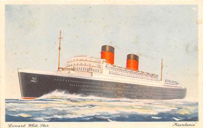 shp011099 - White Star Line Cunard Ship Post Card, Old Vintage Antique Postcard