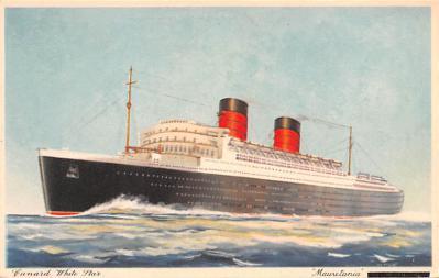 shp011101 - White Star Line Cunard Ship Post Card, Old Vintage Antique Postcard