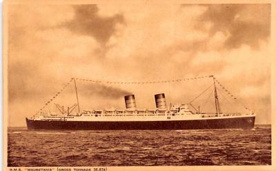 shp011103 - White Star Line Cunard Ship Post Card, Old Vintage Antique Postcard