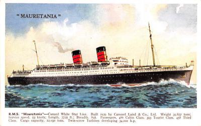 shp011107 - White Star Line Cunard Ship Post Card, Old Vintage Antique Postcard