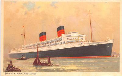 shp011109 - White Star Line Cunard Ship Post Card, Old Vintage Antique Postcard