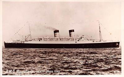 shp011113 - White Star Line Cunard Ship Post Card, Old Vintage Antique Postcard