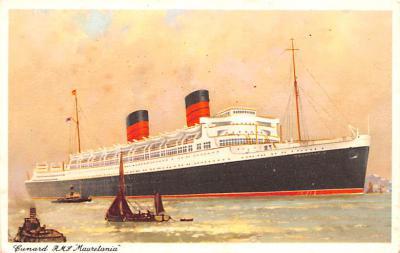 shp011115 - White Star Line Cunard Ship Post Card, Old Vintage Antique Postcard