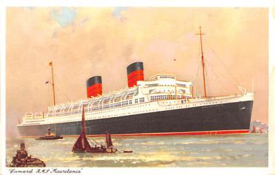 shp011119 - White Star Line Cunard Ship Post Card, Old Vintage Antique Postcard