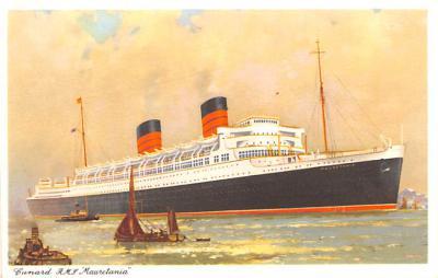 shp011123 - White Star Line Cunard Ship Post Card, Old Vintage Antique Postcard