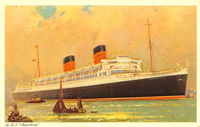shp011125 - White Star Line Cunard Ship Post Card, Old Vintage Antique Postcard
