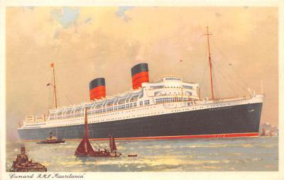 shp011127 - White Star Line Cunard Ship Post Card, Old Vintage Antique Postcard