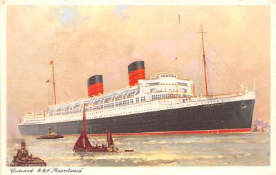 shp011129 - White Star Line Cunard Ship Post Card, Old Vintage Antique Postcard