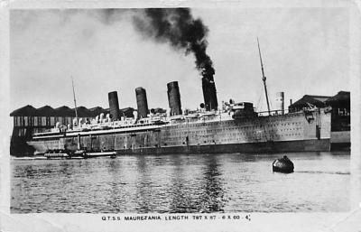 shpp006007 - Cunard Line Ship Postcard Old Vintage Steamer Antique Post Card