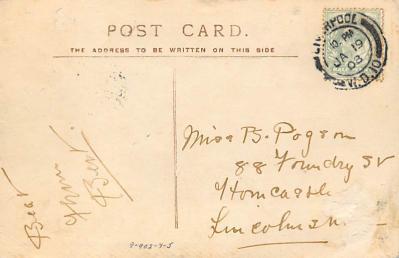 shpp006007 - Cunard Line Ship Postcard Old Vintage Steamer Antique Post Card  back
