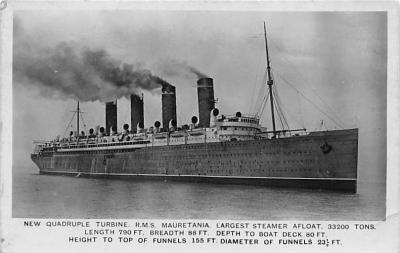 shpp006011 - Cunard Line Ship Postcard Old Vintage Steamer Antique Post Card
