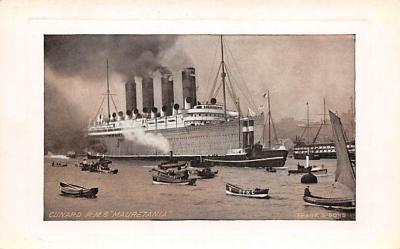 shpp006013 - Cunard Line Ship Postcard Old Vintage Steamer Antique Post Card