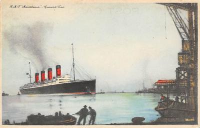 shpp006029 - Cunard Line Ship Postcard Old Vintage Steamer Antique Post Card