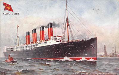 shpp006043 - Cunard Line Ship Postcard Old Vintage Steamer Antique Post Card