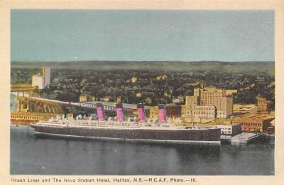 shpp006079 - Cunard Line Ship Postcard Old Vintage Steamer Antique Post Card