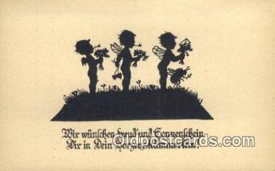 sit001088 - Silhouette Postcard Post Card Old Vintage Antique