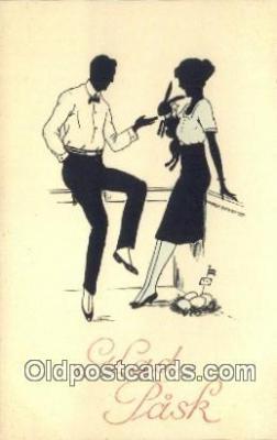sit001097 - Silhouette Postcard Post Card Old Vintage Antique