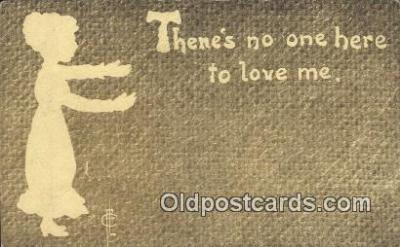 sit001143 - Silhouette Postcard Post Card Old Vintage Antique