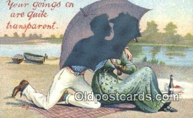 sit001190 - Your Goings on Are Quite Transparent  Postcard Post Card, Carte Postale, Cartolina Postale, Tarjets Postal,  Old Vintage Antique