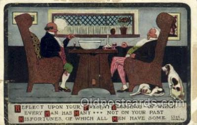 smo001311 - Smoking Postcards Old Vintage Antique Post Cards