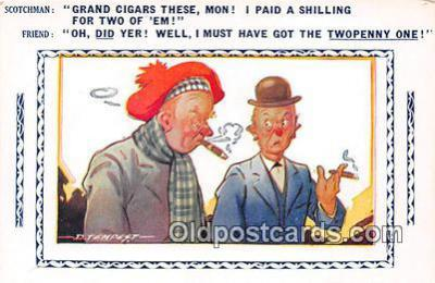 Artist Tempest Smoking Postcard Postcards