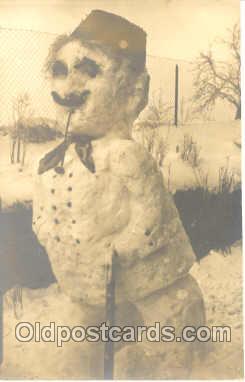 sno001006 - Snowman Postcard Postcards